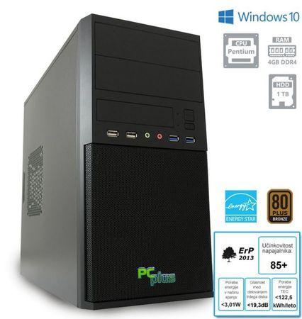 PCplus namizni računalnik Family G4400/4GB/1TB/W10P (136982)