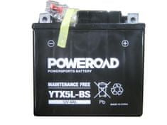 Uplus moto akumulator Poweroad YTX5L-BS (12V, 4Ah)