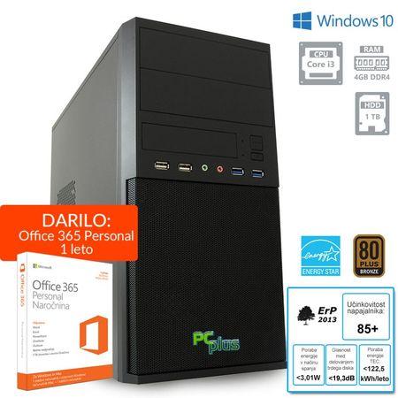 PCplus namizni računalnik Family i3-7100/4GB/1TB/W10H + 1 leto Office 365 Personal (136983)