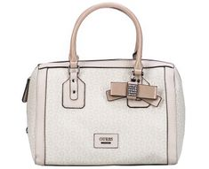 Guess Dámská kabelka Women`s Burnley Faux-Leather Logo Box Satchel Cement