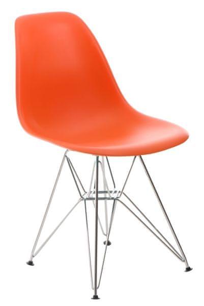 Mørtens Furniture Jídelní židle Desire, oranžová