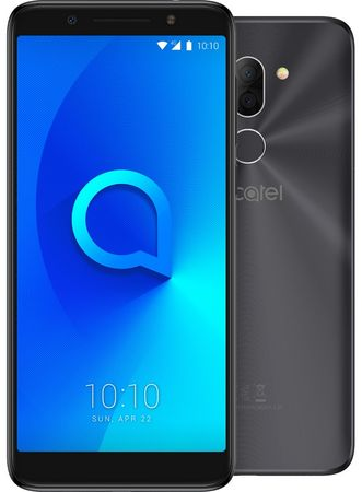 Alcatel 3X (5058I), Metallic Black
