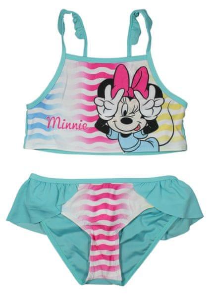 E plus M dívčí plavky Minnie 116/122 tyrkysová