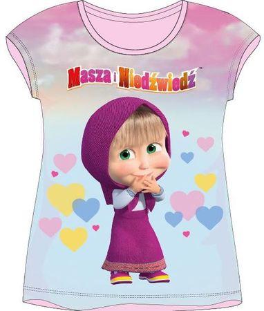 E plus M dievčenské tričko Máša a Medveď 116 viacfarebná