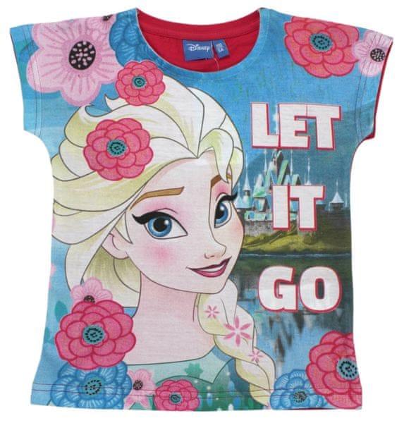 E plus M dívčí tričko Frozen 104 růžová/modrá