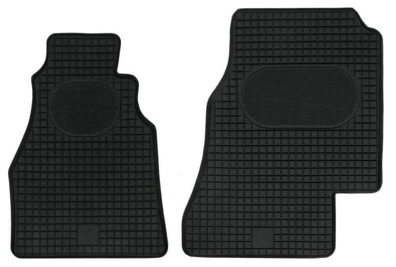 POLGUM Gumové koberce, přední, 2 ks, černé, pro vozy Mercedes-Benz Sprinter do r. 2006 a VW LT 1996-2006