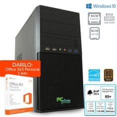 PCplus namizni računalnik E-Office i3-7100/4GB/240GBSSD/W10H + 1 leto Office 365 Personal (136968)