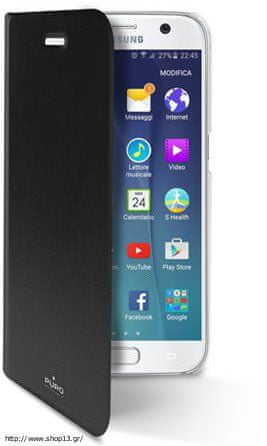 Puro preklopni ovitek Bookza Galaxy S7, črn