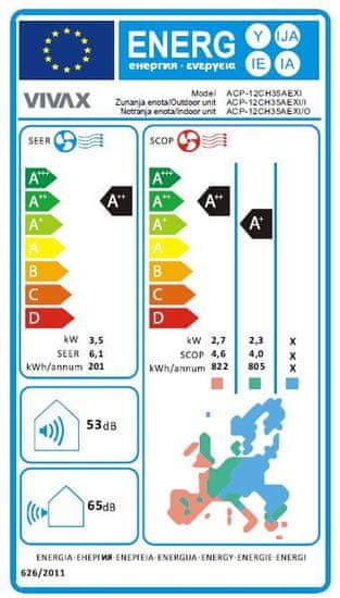 Vivax zidni klima uređaj ACP-12CH35AEXI