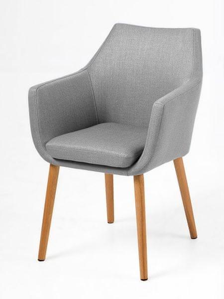Design Scandinavia Jídelní / jednací židle s područkami Marte B, šedá