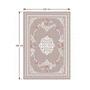 3 -  Koberec, svetlohnedý/vzor kvety, 120x180, SEDEF