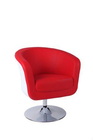 Mørtens Furniture Otočné křeslo Maggie, bílá/červená