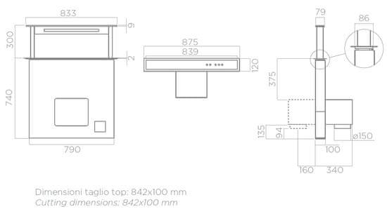 Elica ADAGIO BL/F/60 - zánovní