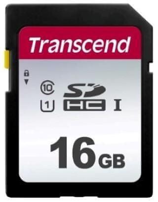 Transcend SDHC pomnilniška kartica 300S, 16 GB, 95/45 MB/s, C10, UHS-I U3, V30