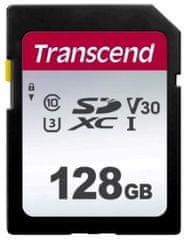 Transcend SDXC pomnilniška kartica 300S, 128 GB, 95/45 MB/s, C10, UHS-I U3, V30
