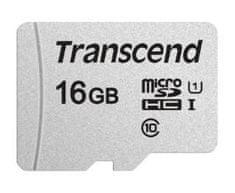 Transcend microSDHC pomnilniška kartica 300S, 16 GB, 95/45 MB/s, C10, UHS-I U3, V30