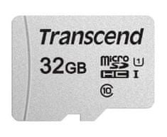 Transcend microSDHC pomnilniška kartica 300S, 32 GB, 95/45 MB/s, C10, UHS-I U3, V30