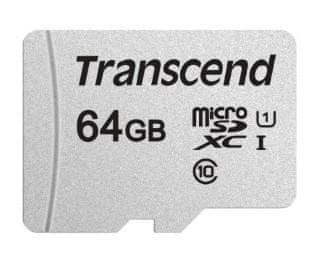 Transcend microSDXC pomnilniška kartica 300S, 64 GB, 95/45 MB/s, C10, UHS-I U3, V30