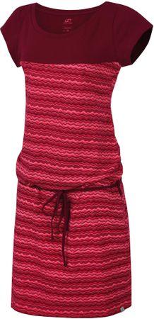 Hannah ženska obleka Tyene Teaberry (Print), 36, rdeča