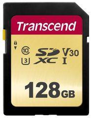 Transcend SDXC pomnilniška kartica 500S, 128 GB, 95/60 MB/s, MLC, C10, UHS-I U3, V30