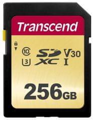 Transcend SDXC pomnilniška kartica 500S, 256 GB, 95/60 MB/s, MLC, C10, UHS-I U3, V30