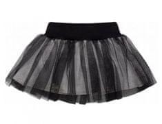 PINOKIO Dievčenská sukňa Happy day - čierna 110