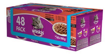 Whiskas kapsičky klasický výběr ve šťávě 48 pack