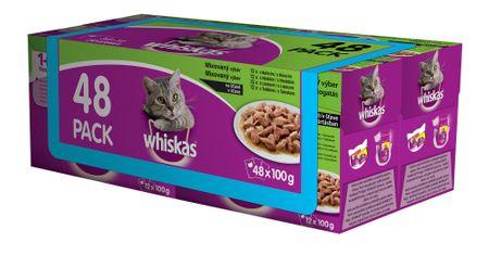 Whiskas mačja hrana u želeu Mix, 48 komada