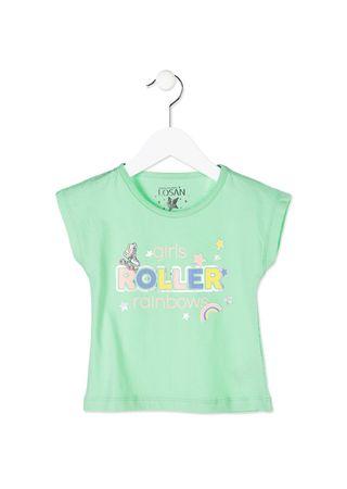 Losan dívčí tričko 92 zelená