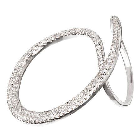 Preciosa Moda srebra pierścień krystalicznym Finespun 5201 00 (obwód 55 mm) srebro 925/1000
