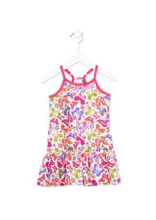 Losan dívčí šaty 110 vícebarevná
