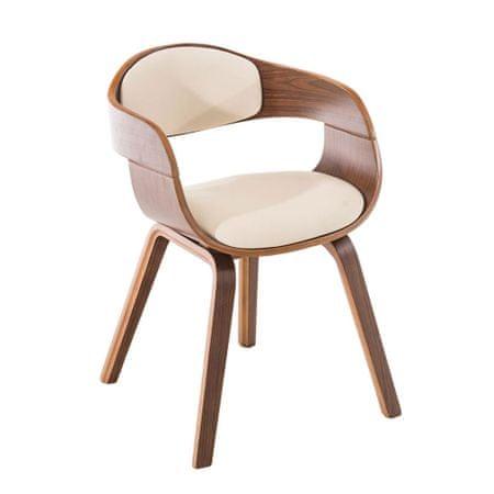 BHM Germany Konferenční / jídelní židle Kingdom ořech (SET 2 ks), krémová