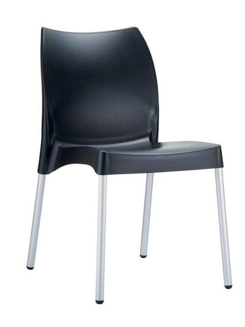 BHM Germany Jídelní židle plastová Willy (SET 2 ks), černá
