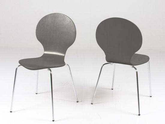 Design Scandinavia Jedálenská preglejková stolička Line (Súprava 4 ks)
