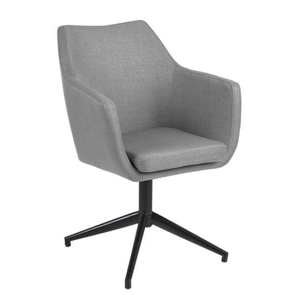 Design Scandinavia Jednací / jídelní židle Marte otočná, šedá