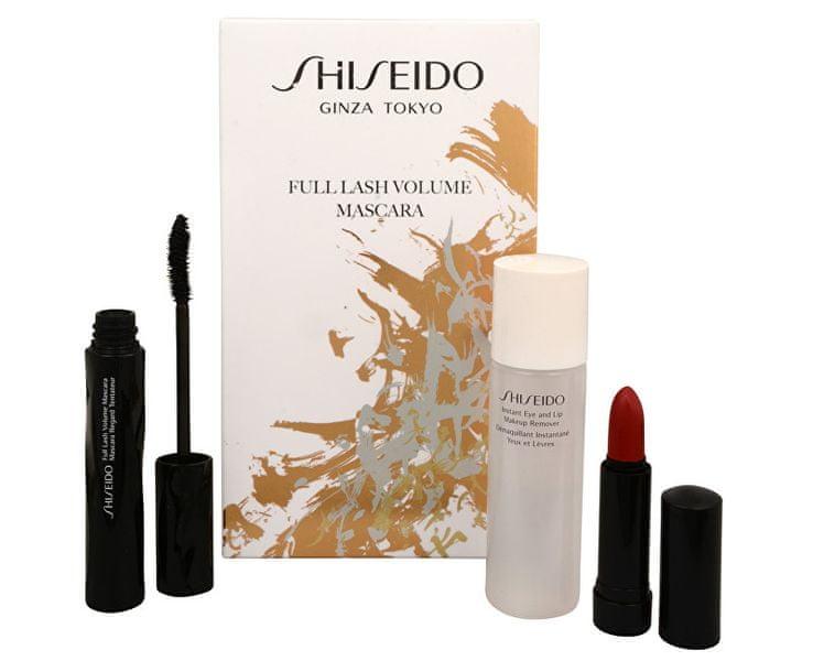 Shiseido Volume řasenka 8 ml + odličovač make-upu 30 ml + krémová rtěnka 2,5 g dárková sada