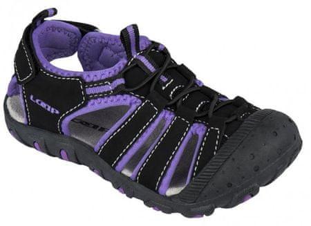 Loap dívčí sandály Dopey 28 černá/fialová