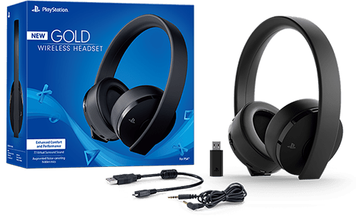Sony PS4 Gold/Black Wireless Headset, (PS719455165)