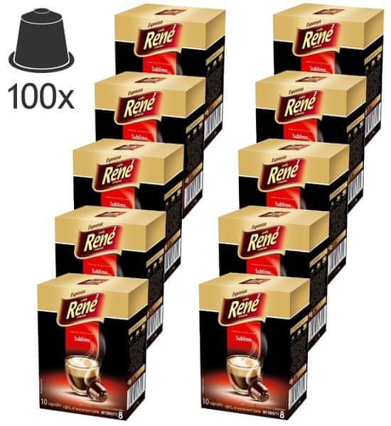 René Sublimo kapsle pro kávovary Nespresso, 100ks