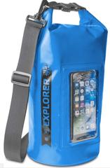 """CELLY Vodeodolný vak Explorer 5L s vreckom na telefón do 6,2"""", modrý EXPLORER5LBL"""