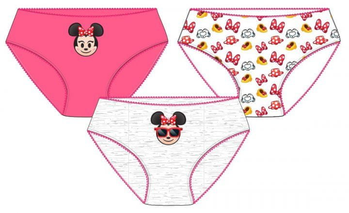 E plus M dívčí set 3ks kalhotek Minnie 122/128 vícebarevná