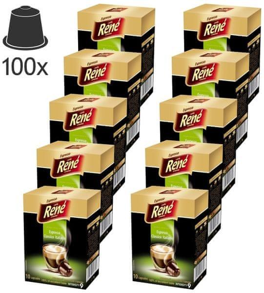 René Espresso Classico Italiano kapsle pro kávovary Nespresso, 100ks