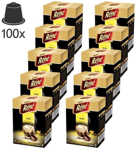 René Espresso Vanilla kapsle pro kávovary Nespresso, 100ks