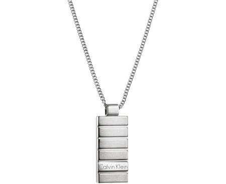 Calvin Klein Męska naszyjnik Plate KJ5SMP080100
