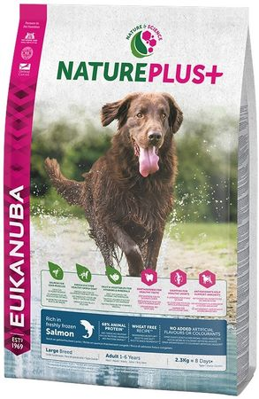 Eukanuba Nature Plus+ Adult Large Breed Rich łosoś 2,3kg