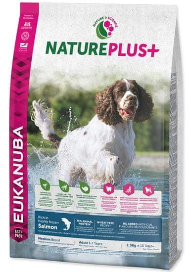 Eukanuba Nature Plus+ Adult Medium Breed Rich in freshly frozen Salmon 2,3kg