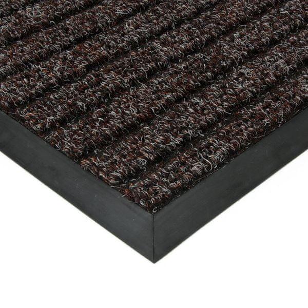 FLOMAT Hnědá textilní zátěžová čistící rohož Shakira - 500 x 300 x 1,6 cm