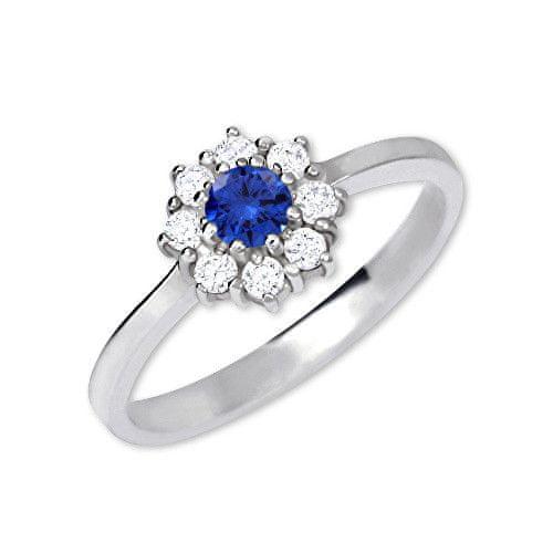 Brilio Silver Stříbrný zásnubní prsten 426 001 00432 04 - modrý - 2,30 g (Obvod 50 mm) stříbro 925/1000