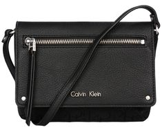 Calvin Klein Kabelka Nadina Logo Flap Light Black