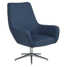 Design Scandinavia Otočné křeslo Rema, modrá